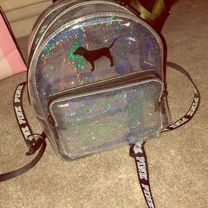 PINK Victoria's Secret Bags - Clear Sparkling Mini backpack,